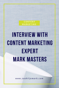 Interview with content marketing expert Mark Masters