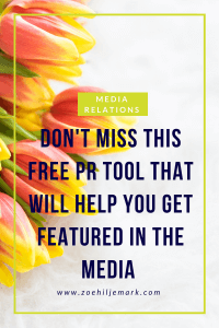Don't miss this free PR tool that will help you to get featured in the media