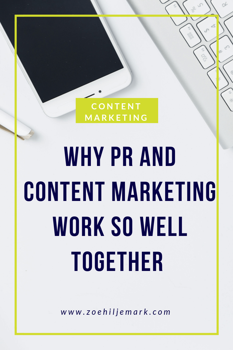 Why PR and content marketing work so well together