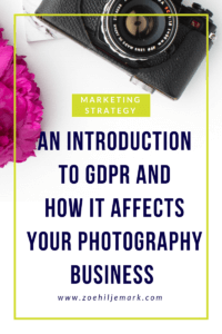 An introduction to GDPR and how it affects your photography business