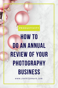 How to do an annual review of your photography business