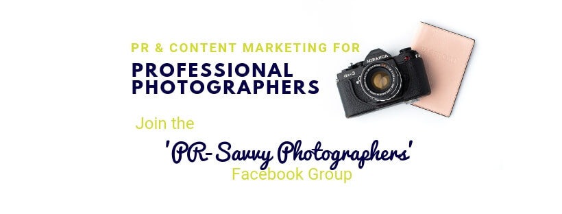Join the PR-Savvy Photographers Facebook group