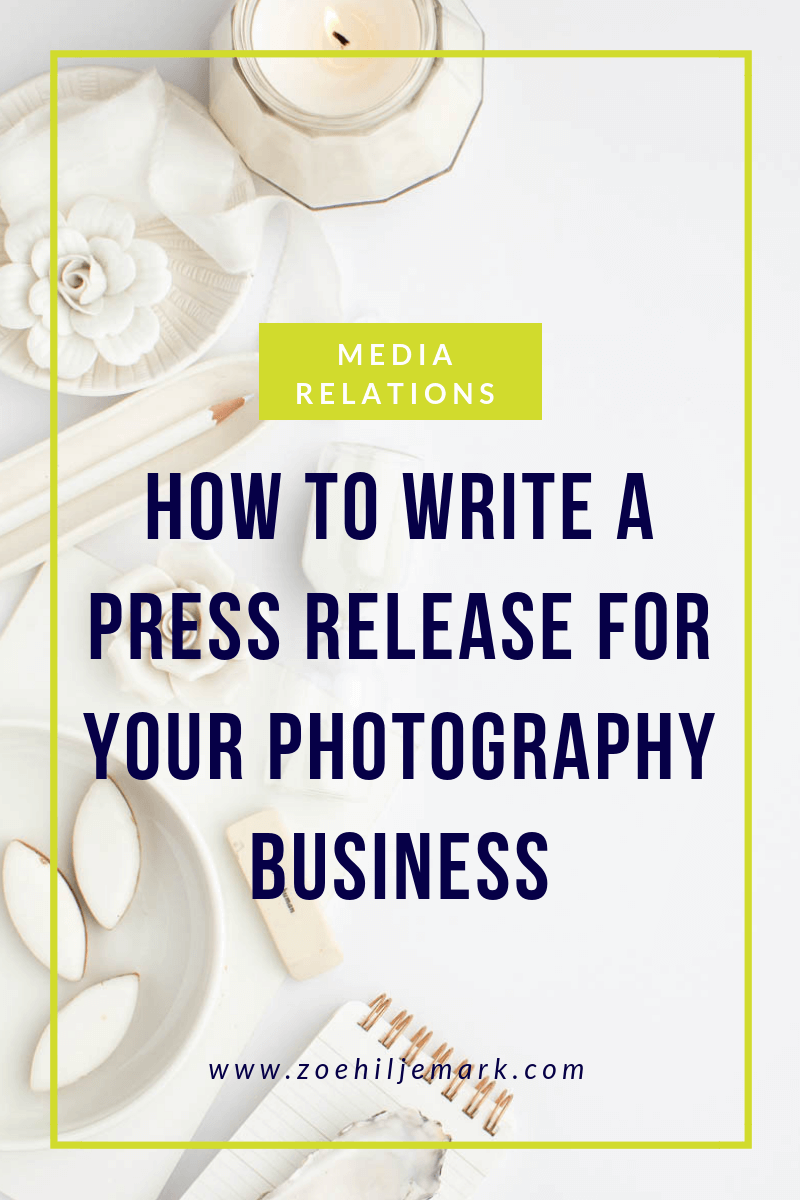 How to write a press release for your photography business