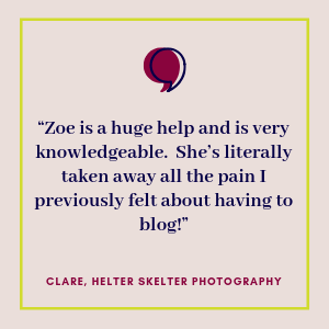 Testimonial from Helter Skelter Photography