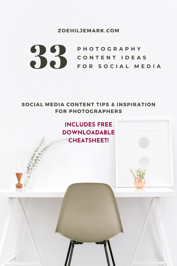 Photography content ideas for social media marketing