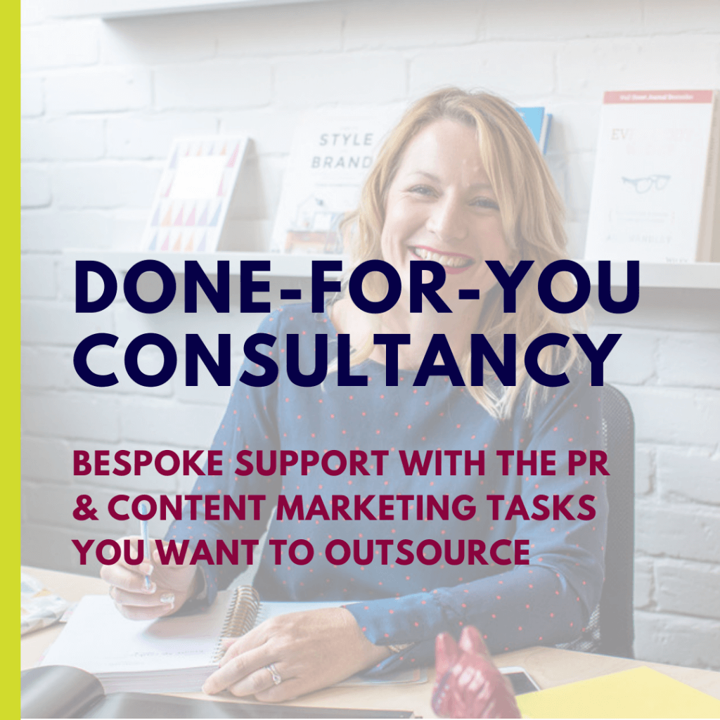 Done for you consultancy | Zoe Hiljemark