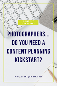 Content planning for photographers