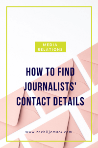 How to find journalists contact details