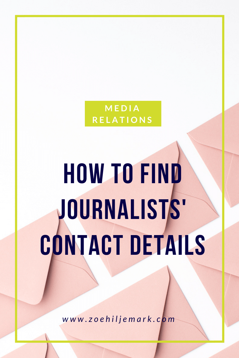 How to find journalist's contact details